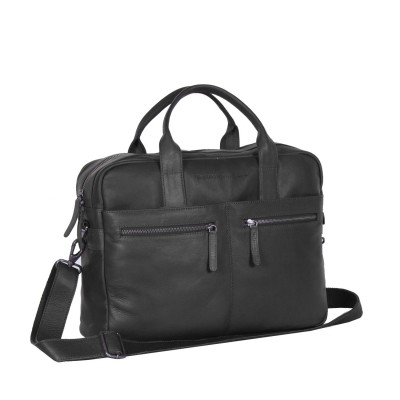 Photo of Leather Laptop Bag Black Jake