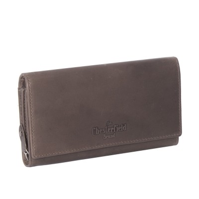 Leather Wallet Taupe Mirthe