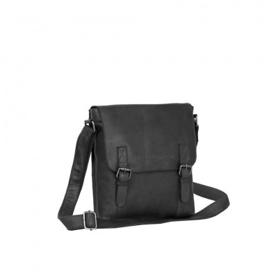 Leather Shoulder Bag Black Medium Alden
