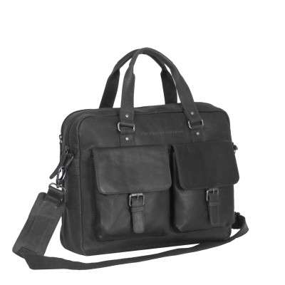 Photo of Leather Laptop Bag Black Dylan