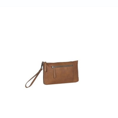 Leather Clutch Cognac Sonia
