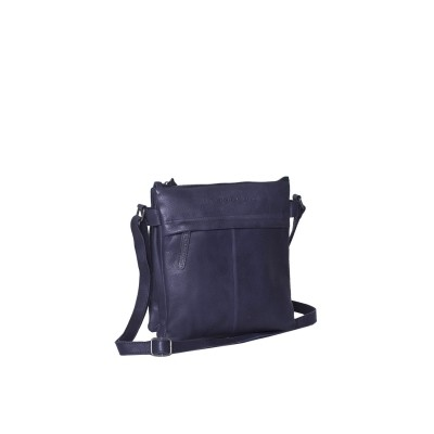 Leather Shoulder Bag Navy Ava