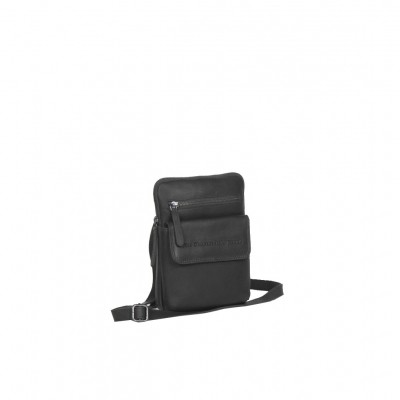 Leather Shoulder Bag Black Lou