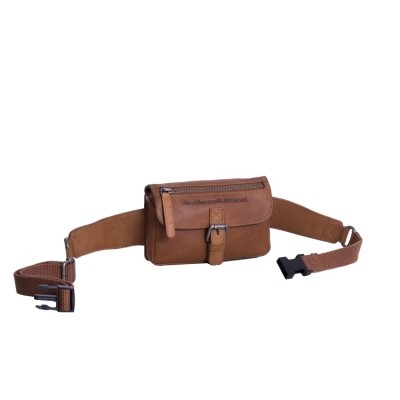 Leather Waist Bag Cognac Jax