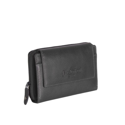 Leather Wallet Black Shannon