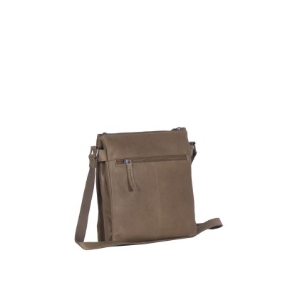 Photo of Leather Shoulder Bag Taupe Stella