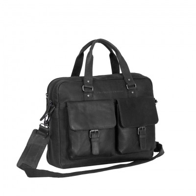 Photo of Leather Laptop Bag Black George