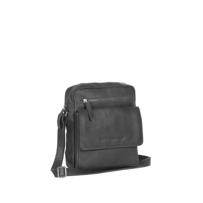 Leather Shoulder Bag Black Morgan