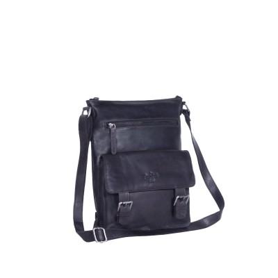Photo of Leather Shoulder Bag Navy Lucy