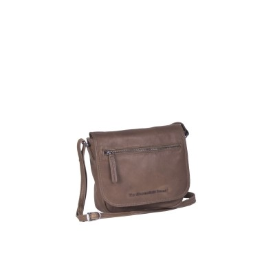 Leather Shoulder Bag Taupe Coco