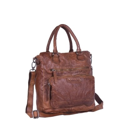 Leather Shopper Bag Cognac Romy