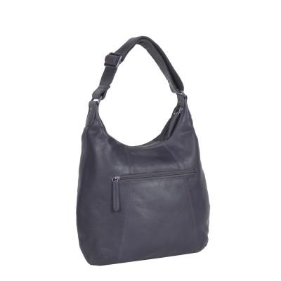 Photo of Leather Shoulder Bag Navy Floor