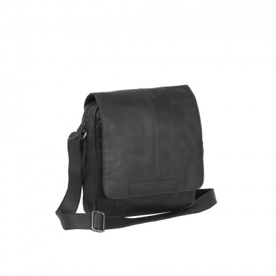 Leather Shoulder Bag Black Raphael