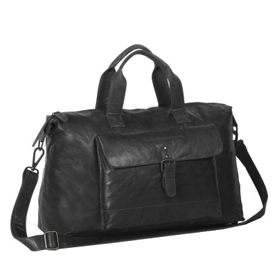 Leather Weekend Bag Black Maeryn