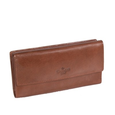 Leather Wallet Cognac Thea