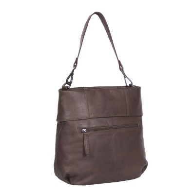 Photo of Leather Shoulder Bag Taupe Maud