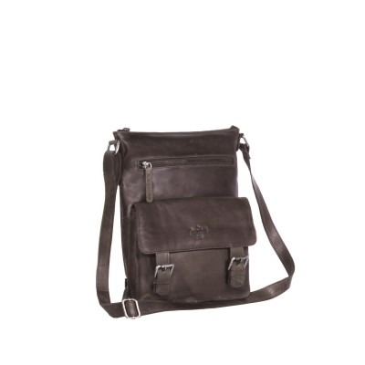 Leather Shoulder Bag Taupe Lucy