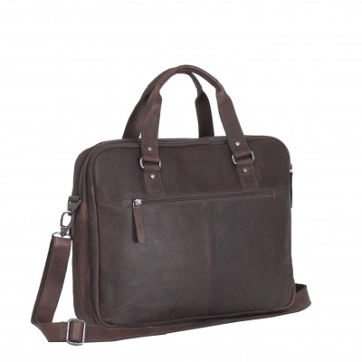 Photo of Leather Laptop Bag Brown Dylan