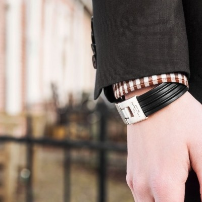 Photo of Leather Bracelet Black Elvis