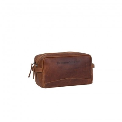 Leather Toiletry Bag Cognac Stacey