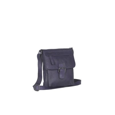 Leather Shoulder Bag Navy Saskia