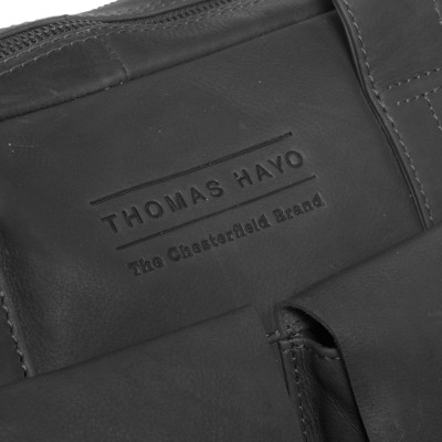 Photo of Leather Laptop Bag T8 Black Thomas Hayo