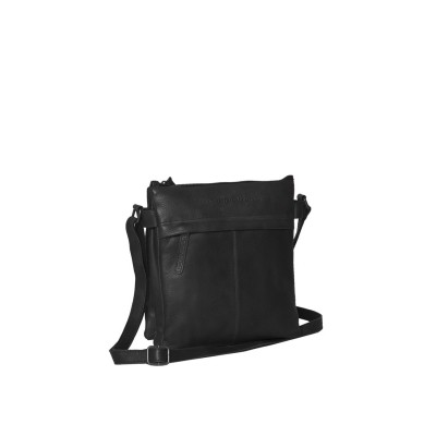 Leather Shoulder Bag Black Ava