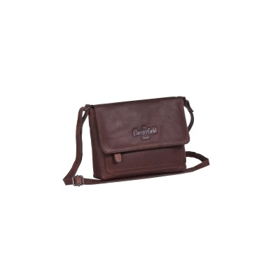 Leather Shoulder Bag Brown Brooke