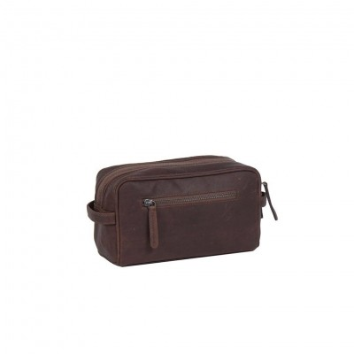 Photo of Leather Toiletry Bag Brown Stacey