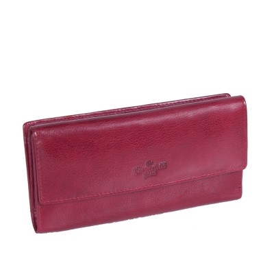 Leder Portemonnaie Rot Thea