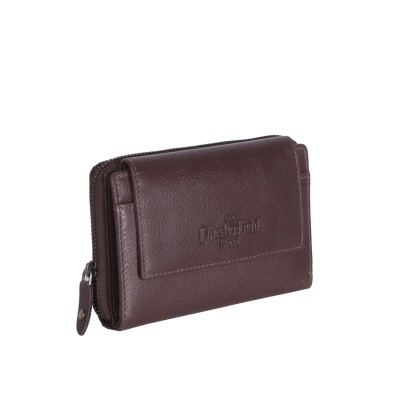 Leather Wallet Brown Shannon