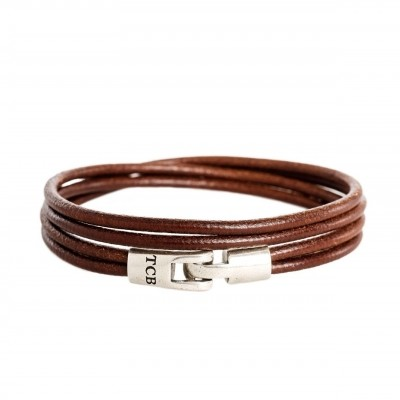 Photo of Leather Bracelet Cognac Trusci