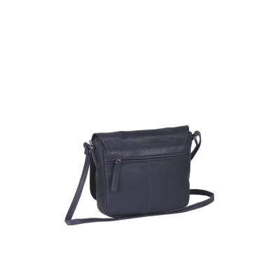 Photo of Leather Shoulder Bag Navy Coco