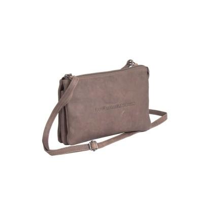Leather Shoulder Bag Taupe Julia