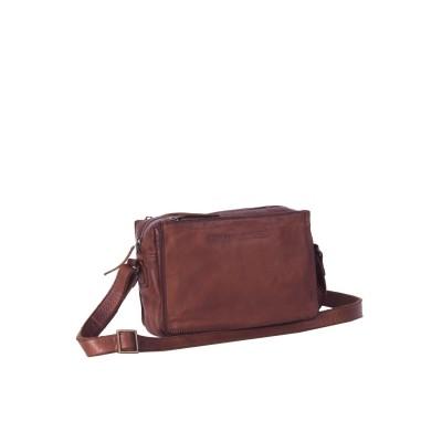 Photo of Leather Shoulder Bag Black Label Cognac Liva