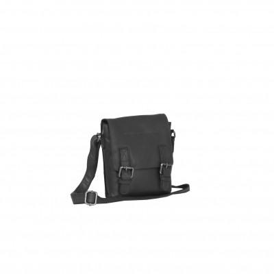 Leather Shoulder Bag Black Jesse