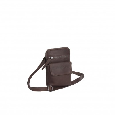 Leather Shoulder Bag Brown Maya