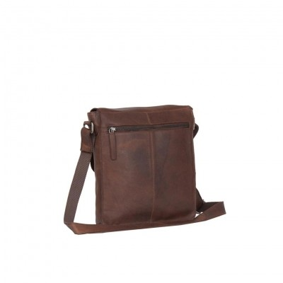 Photo of Leather Shoulder Bag Brown Medium Alden