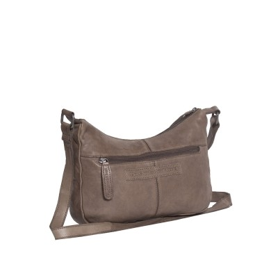 Photo of Leather Shoulder Bag Taupe Aria