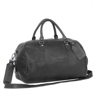 Photo Of Leather Weekend Bag Black Liam