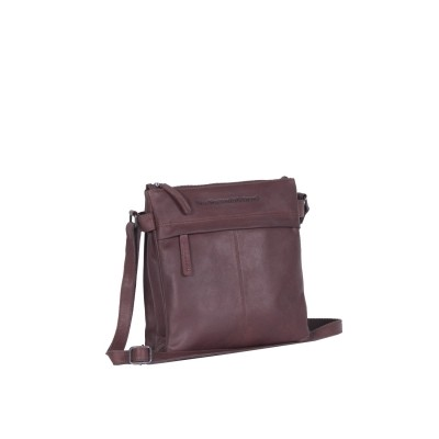 Leather Shoulder Bag Brown Stella