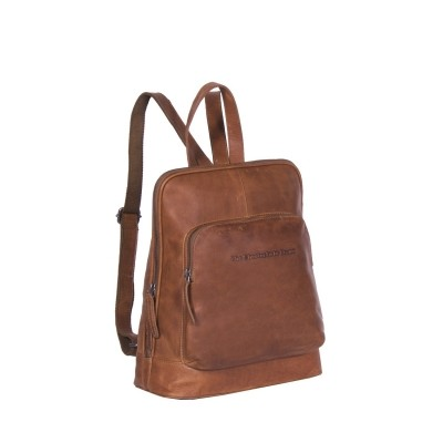 Leather Backpack Cognac Naomi