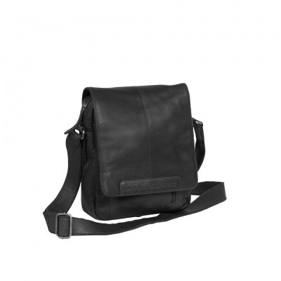 Leather Shoulder Bag Black Remy