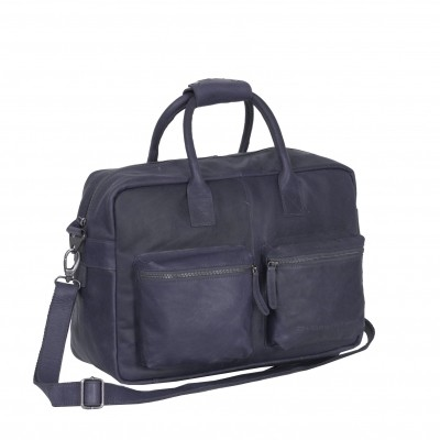 Leather Shoulder Bag Navy Yasmin