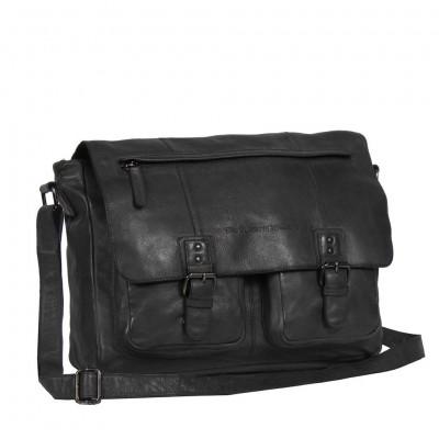 Leather Shoulder Bag Anthracite Jeffery