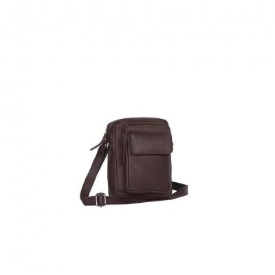 Leather Shoulder Bag Brown Jeff