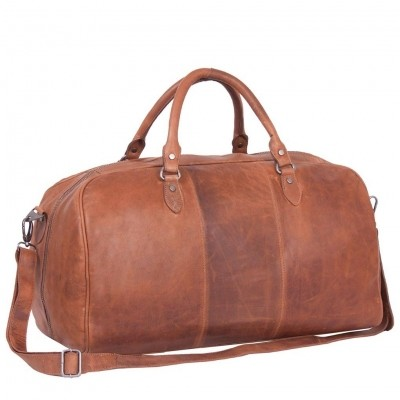 Foto von Leder Weekender Cognac William