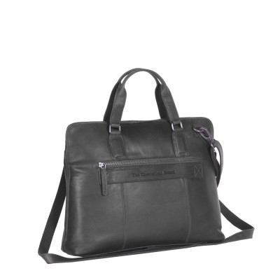 Photo of Leather Laptop Bag Black Hana