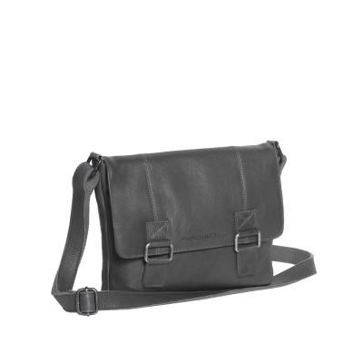 Leather Shoulder Bag Black Elena