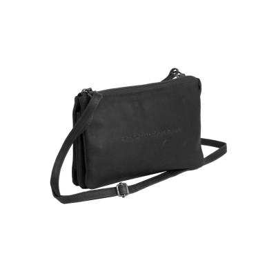 Leather Shoulder Bag Black Julia